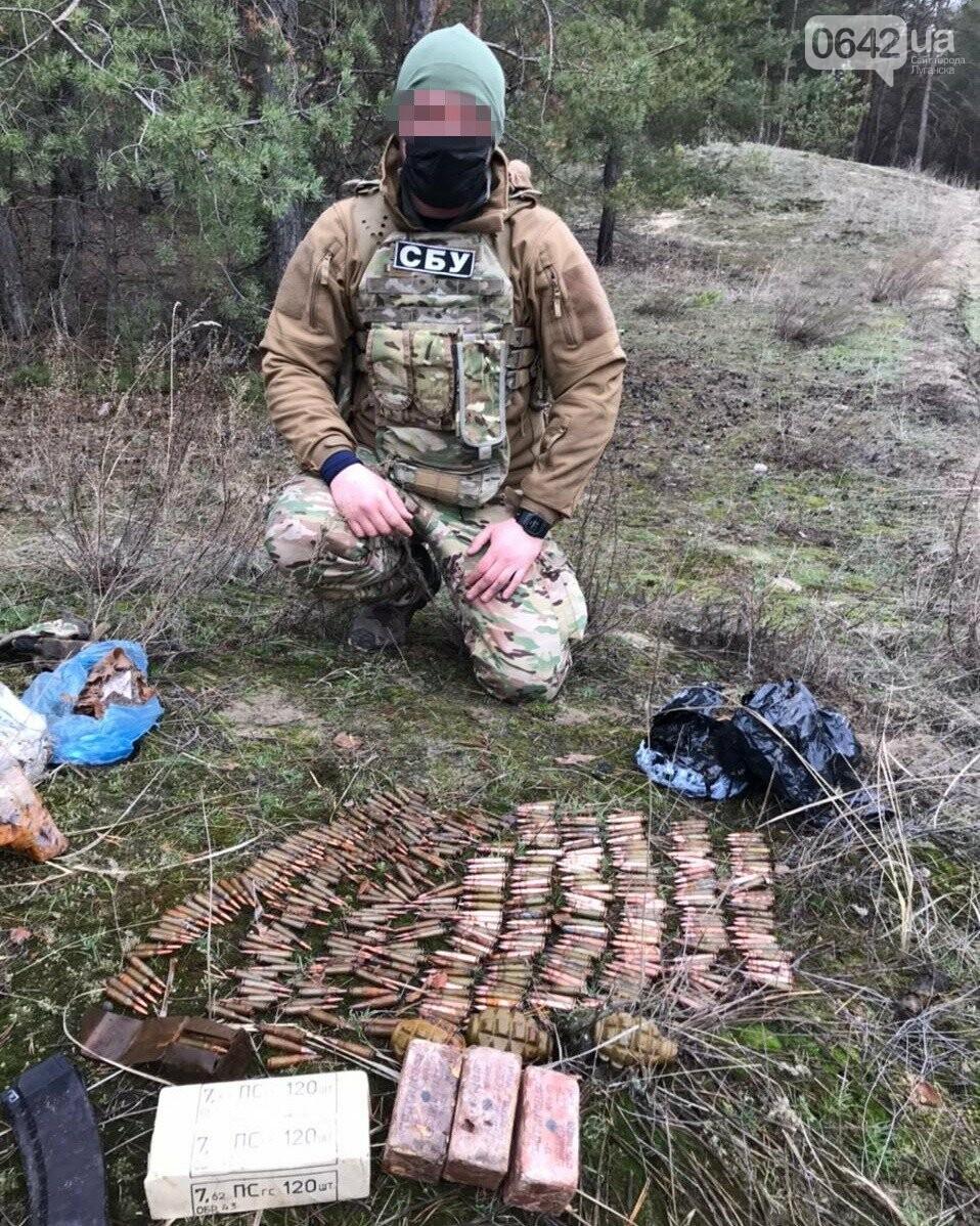 В Луганской области нашли два тайника со взрывчаткой и гранатами, - ФОТО, фото-3