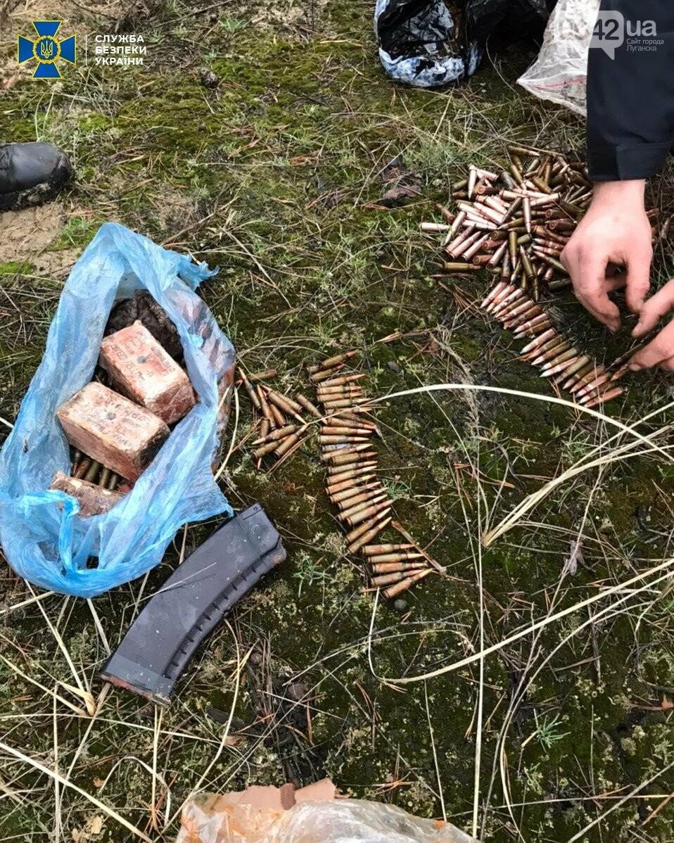 В Луганской области нашли два тайника со взрывчаткой и гранатами, - ФОТО, фото-4