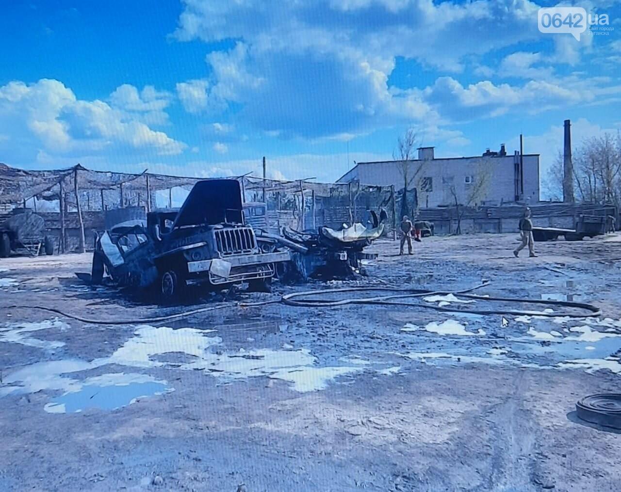 Горели четыре бензовоза: Известны подробности пожара в военной части на Луганщине, - ФОТО, фото-2