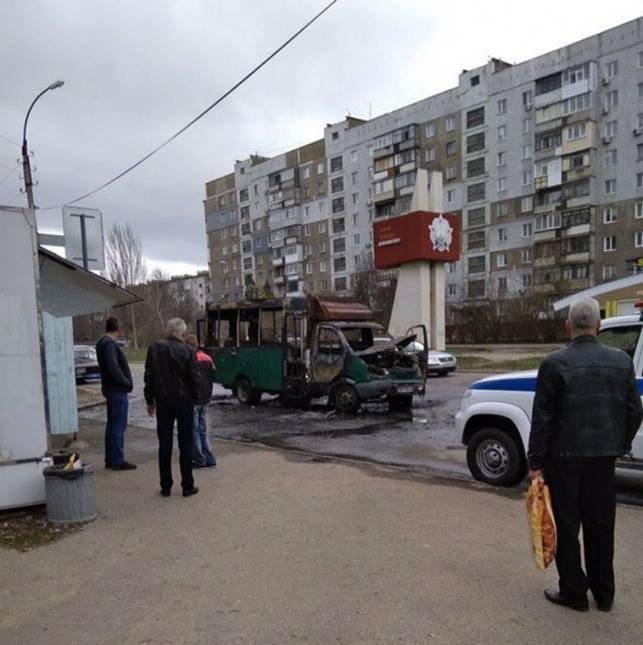 В Луганске боевик поджог маршрутку с пассажирами, - ФОТО , фото-1