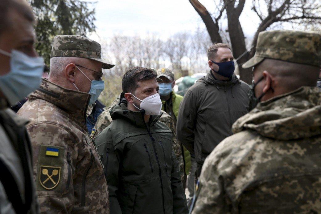 Зеленский посетил участок разведения сил на Донбассе, - ФОТО, фото-2