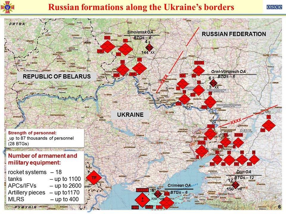 Россия на границе с Украиной разместила три группировки войск, способных к внезапному наступлению, фото-1