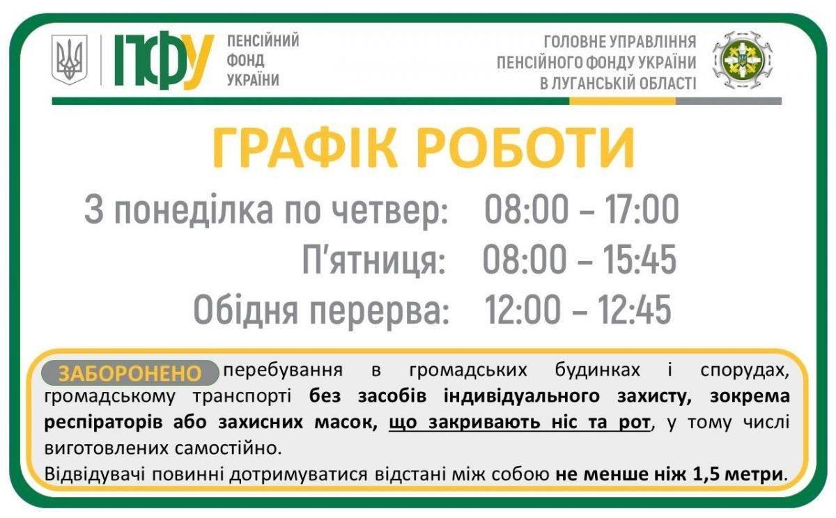 В Луганской области изменился график работы в управлениях Пенсионного фонда , фото-1