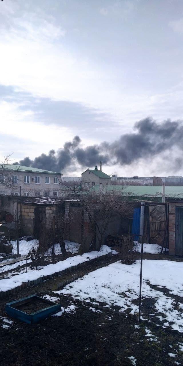 В Луганске горит склад горюче-смазочных материалов, - ФОТО, фото-3
