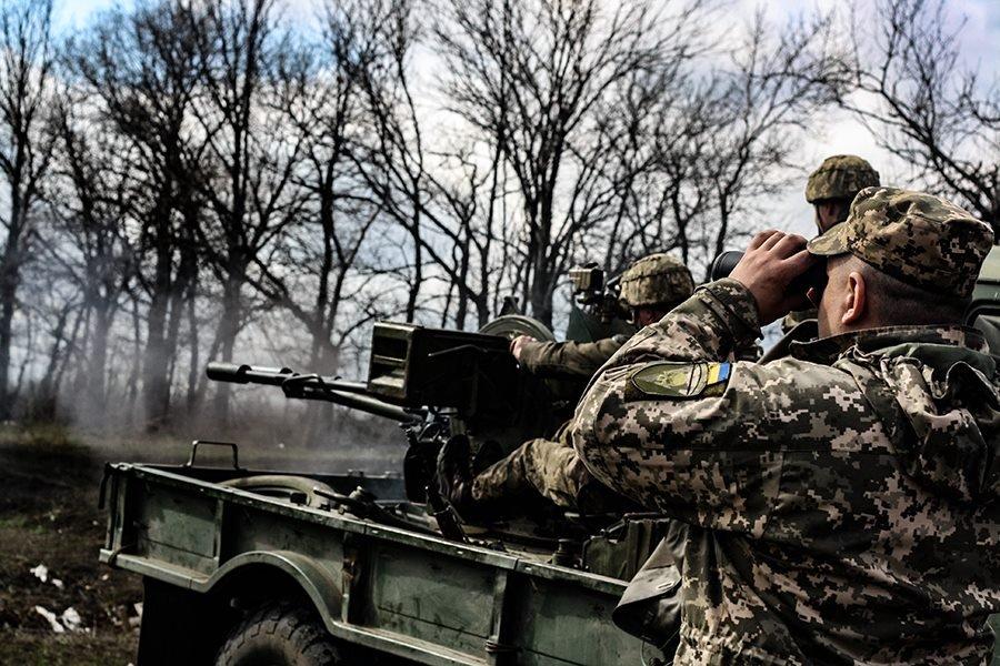 На Донбассе украинские танкисты провели учения, - ФОТО, фото-5