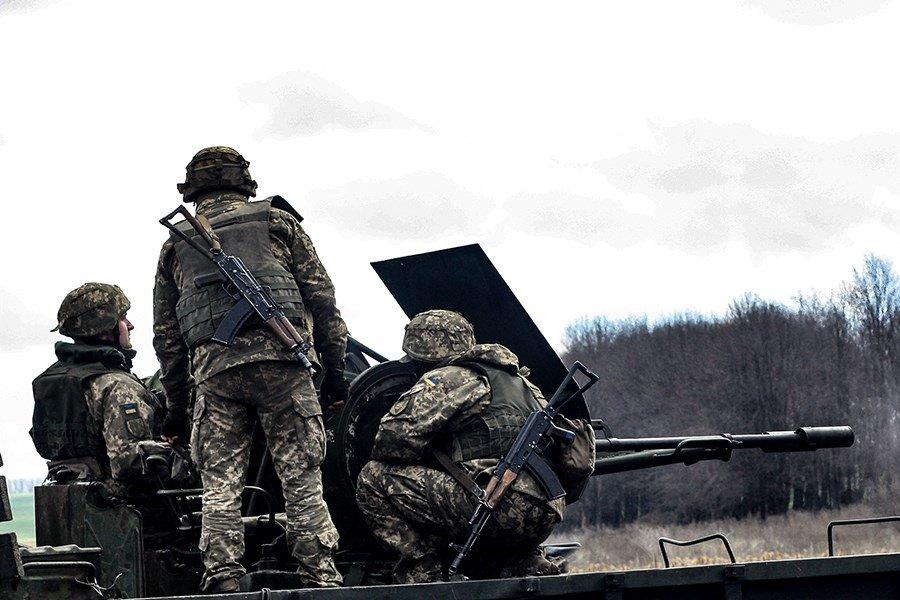 На Донбассе украинские танкисты провели учения, - ФОТО, фото-6