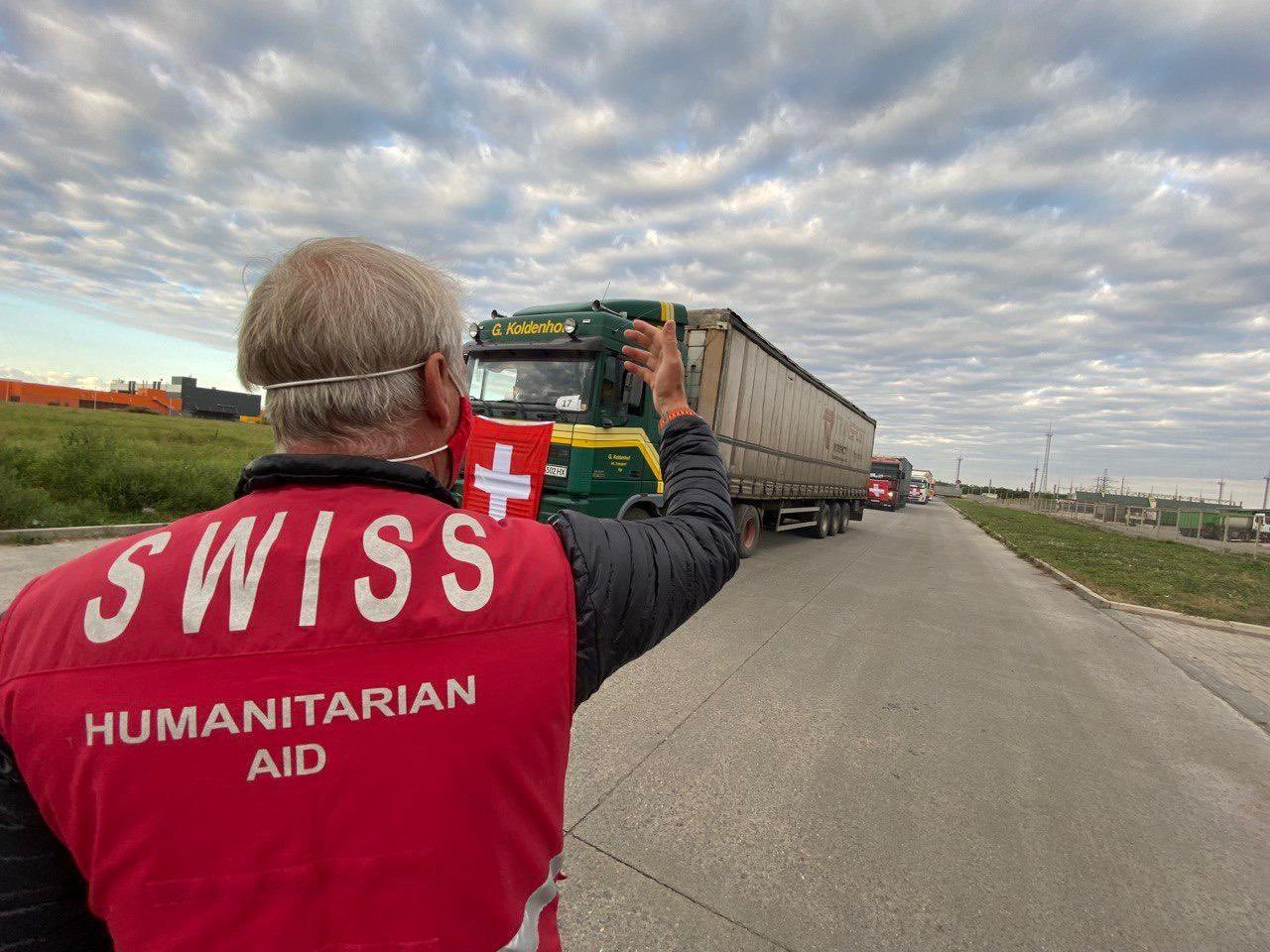 Швейцария направила в ОРДЛО 144 грузовиков с гумпомощью, - ФОТО, фото-1
